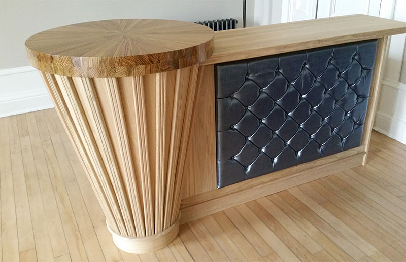 Bespoke designer wooden bar